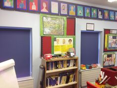 Classroom Commercial Blinds, Fitted Blinds, Bookcase, Gallery Wall, Classroom, Restaurant, Shelves, Home Decor, Class Room