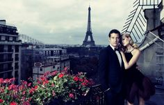 Toni Garrn & Clive Owen by Alexi Lubomirski (The Spy Who Loved Me - Vogue Spain October 2011)