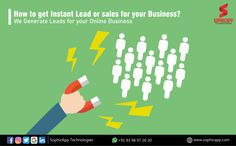 How to get Instant Lead or Sales for your Business? We Generate Leads for your Online Business for more Information WhatsApp us @ +91 93 98 97 26 30 www.sophicapp.com #digitalmarketingagencyinindia #digitalmarketingcompany #bestdigitalmarketingagency #BesDigitalMarketingAgencyinhyderabad #DigitalMarketingCompanyHyderabad #digitalmarketingservices #topdigitalmarketingservices #BestDigitalMarketingServicesinHyderabad Digital Marketing Services, Web Application, Lead Generation, App Development, Mobile App, Online Business, How To Get, Mobile Applications