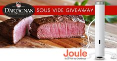 D'Artagnan is giving away three Joule prize packages, so you can sous vide in style. ✴️1 Stainless Steel Joule ($199 retail value)