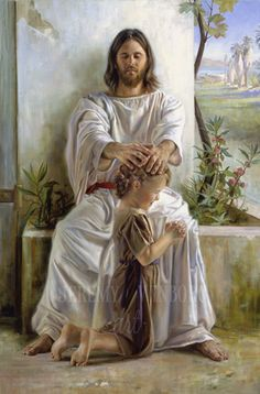 The Lord Jesus Christ is our Abundant Healer. He Heals our Bodies, He Restores our Souls, and He Heals our Broken Hearts. - The Artwork of Jeremy Winborg Arte Lds, Patriarchal Blessing, Image Jesus, Pictures Of Jesus Christ, Lds Art, Jesus Christus, Holy Mary, Jesus Is Lord, Religious Art