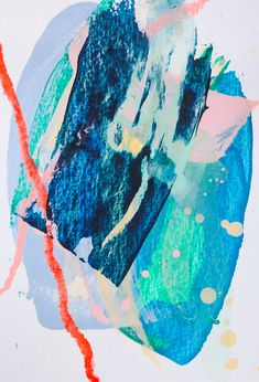 Magic card #11. Acrylic, pastel on paper, 10x14 cm. Acrylic painting.