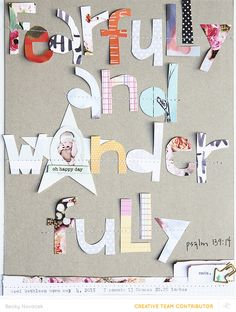 Blog: Tutorial: Using Hand-Cut Letters - Scrapbooking Kits, Paper & Supplies, Ideas & More at StudioCalico.com!