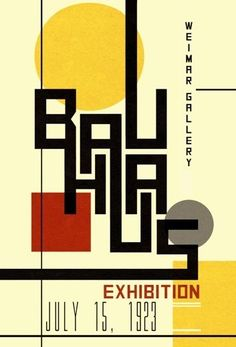 Image result for bauhaus graphic design movement 1920