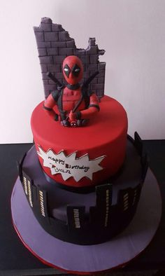 Deadpool Wedding Cake   Wedding cake or party cake    marvel     Deadpool Wedding Cake   Wedding cake or party cake    marvel   Pinterest    Deadpool  Wedding cake and Cake