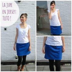 Tuto: la jupe super simple en jersey   Des filles à retordre