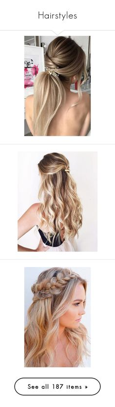 """""""Hairstyles"""" by mollytheangel ❤ liked on Polyvore featuring beauty products, haircare, hair styling tools, hair, accessories, hair accessories, long hair accessories, hairstyles, hair styles and people"""