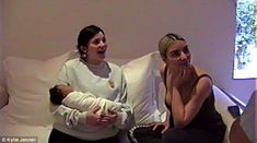 Emotive: Kylie, pictured with Kim's baby, Chicago, shared intimate moments of her life in ... #kyliejenner #kardashians