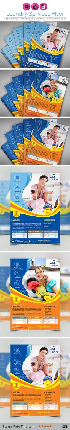 11 best Laundry & Dry Cleaning Services Print Templates images on ...