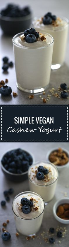 (Vegan and GF) Making non-dairy yogurt at home is so easy, besides, it's healthier and tastes so good! We used unsalted raw cashews to make this delicious vegan yogurt.