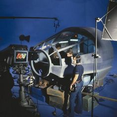 "Filming Star Wars inside of the iconic ""Millennium Falcon"" spacecraft."