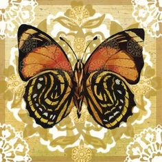 Pattern Butterfly on Gold by Elena Vladykina | Ruth Levison Design