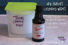 Diy thieves wipes herbalessential oils pinterest diy cleaning thieves wipes solutioingenieria Image collections