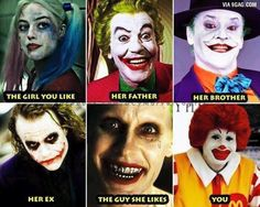Love explained with Harley Quinn and the Joker