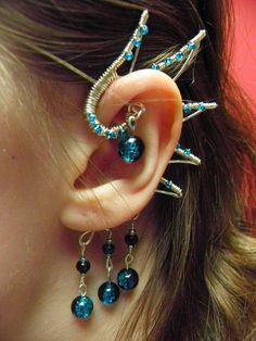 Dragon Wing Ear Cuff. zł45.00, via Etsy.