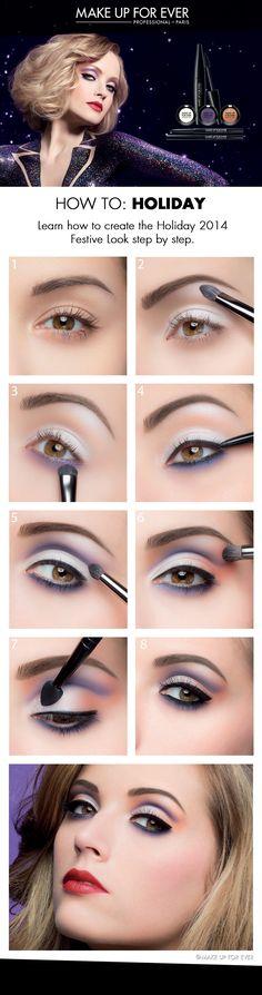 El look de fiestas propuesto por Makeup Forever!