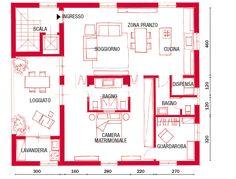 Piantina Casa 100 Mq Case Unifamiliari Nel 2019 Pinterest
