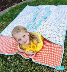 Riley Blake Designs double sided quilt.  So cute!