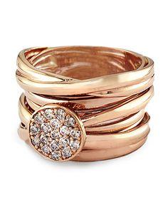 I love Portuguese Gold ... err ... Rose gold & diamond ring