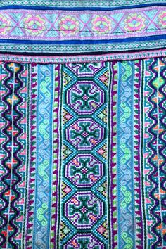 Textile Tribes: Flower Hmong hand embroidered baby carry in Bac Ha Market Vietnam