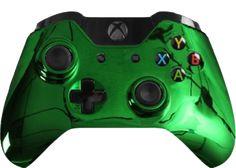 Sweet looking Green Chrome Xbox One Custom Modded Controller $169.99 http://rapidfiregamer.com/green-chrome-xbox-one-custom-modded-controller/ #xboxone #xboxcontrollers #moddedcontrollers #mastermod #xboxonemoddedcontroller