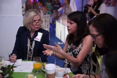Fashion Bloggers from the Belk Southern Style Summit talk fashion with Belk executives in the Belk Tent during Charleston Fashion Week 2015 #CHSFW #BelkScene
