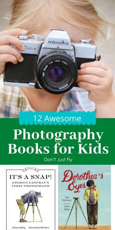 Teach your kids photography before your next family vacation! These fantastic picture books to read with kids include biographies of famous photographers. The best way to inspire your child to take better photos of your family trip.