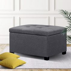 🛍LAY DOWN FOR LESS At #MATTRESSOFFERS - FOR YOUR BEAUTIFUL HOUSE🛍  Shoe Cabinet Bench Shoes Storage Rack Organiser Drawer White Shelf 12 Pairs Box   Looking for a storage solution with more taste? Look no further than our premium Artiss Storage Ottoman. With an elegant tufted seat upholstered in soft faux linen fabric, our ottoman is simply luxurious to rest on and adds a plush touch to any home.  #storage #wintersale #shophumm Footstool Coffee Table, Pouf Footstool, Fabric Storage Ottoman, Shoe Storage Rack, Blanket Box, White Shelves, Shoe Cabinet, Lounge Seating, Couch