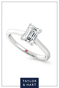 2bd01c3a8f9adf Hope | 18ct White Gold solitaire style engagement ring. Solitaire DiamondSolitaire  SettingEmerald ...