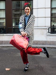 Spotted at London Fashion Week: fun is having a good time!