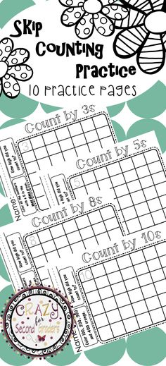 Skip counting is an everyday routine in grade. These NO PREP practice pages… Skip Counting Activities, Number Sense Activities, Counting In 2s, Math Activities, Math Games, Teaching Multiplication, Teaching Math, Maths, Teaching Ideas