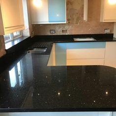 Nero Stella Black Quartz - London - Rock and Co Granite Ltd Black Quartz, Granite, London, Home Decor, Decoration Home, Room Decor, Granite Counters, Home Interior Design, London England