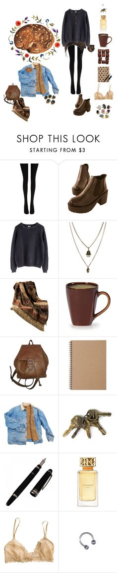 """""""Fawn"""" by vilcsi888 on Polyvore featuring Wolford, Jamie Jewellery, HiEnd Accents, Coach, Muji, Tory Burch and Eberjey"""