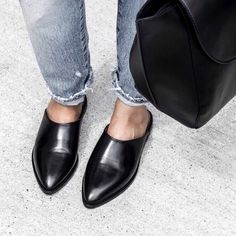 0ccb35adc ATP Atelier black leather mules size 35.0. Worn a handful of - Depop Black  Leather