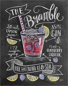 Poster / Leinwandbild Brombeer-Cocktail - Lily & Val in Möbel & Wohnen, Dekoration, Bilder & Drucke | eBay