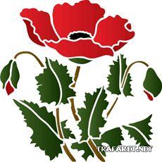 Scarlet Poppy • schablon till målarkonst • handla online på Internet