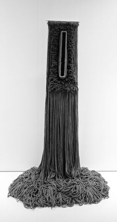 """Claire Zeisler Freestanding Fiber Construction Entitled """"Black Tuesday"""" 