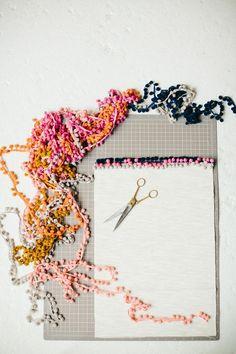 DIY Pom Pom Placemats