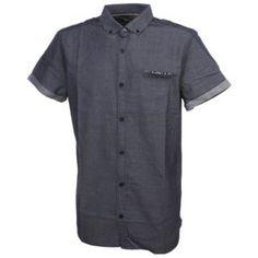 Teddy Smith - Chemise manches courtes Cover us navy mc shirt Bleu 29203 - pas  cher Achat   Vente Chemise homme 272a9cec1cf