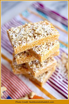 Apricot and Cashew Energy Bars