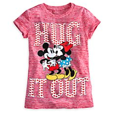Mickey and Minnie Mouse ''Hug it Out'' Tee for Girls