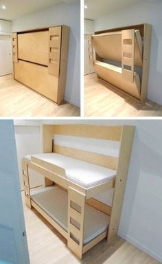 Lits murphy superpos s sur pinterest lit superpos lits escamotables et pl - Lit superpose rabattable ...