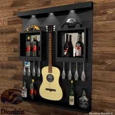 Kitchen Bar Design, Home Decor Kitchen, Diy Home Bar, Bars For Home, Canto Bar, Wine Bar Cabinet, Home Wine Cellars, Bar Displays, Rustic Wine Racks