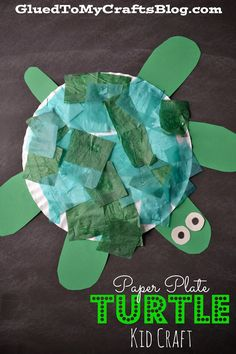 Paper Plate Turtle {Kid Craft} Your little ones will love making this fun summer pet. Check out the tutorial for the Paper Plate Turtle via Glued To My Crafts. The post Paper Plate Turtle {Kid Craft} appeared first on Paper Ideas. Preschool Crafts, Fun Crafts, Arts And Crafts, Reptiles Preschool, Craft Kids, Pet Craft, Pet Theme Preschool, Paper Plate Crafts For Kids, Ocean Crafts