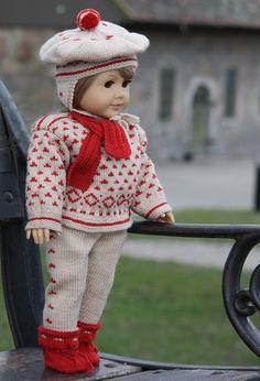 Lovely doll knitting pattern