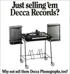 Decca Record player advertising - 1967