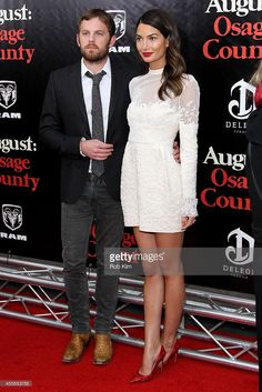 Caleb Followill and Lily Aldridge attend the premiere of