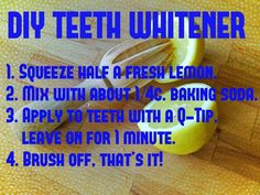 How to naturally whiten teeth at home!