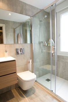 Bathroom look. Wall tile under mirror.