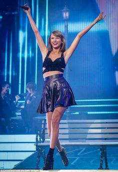 In here element: It was clear to see stage is Taylor's happy place as she couldn't wipe th...